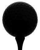 силуэт шара для игры в гольф стоковые изображения rf