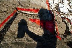 Силуэт 002 надписи на стенах Стоковые Изображения