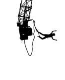 силуэт bungee стоковая фотография