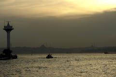 силуэт istanbul Стоковое Изображение RF