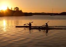силуэт kayak Стоковое Фото