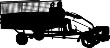 силуэт motocultivator иллюстрация штока