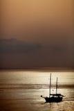 силуэт silboat Стоковая Фотография