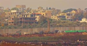 Силы IDF на границе между Израилем и Ливаном видеоматериал