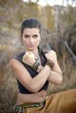 сильная западная женщина стоковая фотография