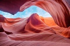 Сильная и волшебная антилопа каньона, Аризона США стоковое фото