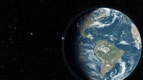 Сильно детальные 3d представляют используя спутниковые снимки иллюстрация штока