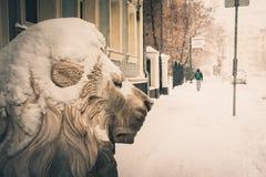 Сильный снегопад в Москве стоковое фото