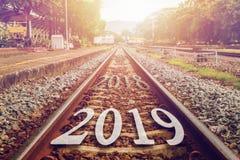 2019 символизирует начало в Новый Год Номер начала на стоковые фотографии rf