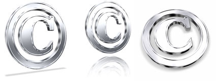 символы авторского права Стоковые Фото