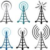 символы башни радио вектора иллюстрация вектора