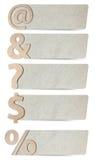 символы бумаги пем алфавита рециркулированные Стоковое Фото