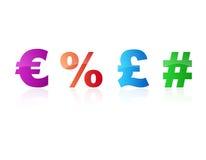 символы валюты Стоковые Фотографии RF