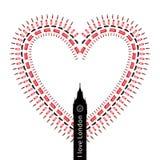 символы влюбленности сердца i london Стоковое фото RF