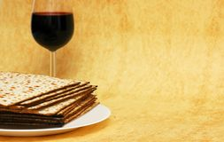 символы еврейской пасхи Стоковое Фото