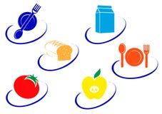символы еды иллюстрация штока