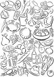 символы еды Стоковое фото RF
