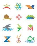 символы знаков логосов икон Стоковое фото RF