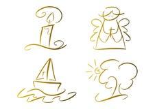 символы золота вероисповедные установленные иллюстрация вектора