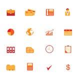 символы иконы дела установленные Стоковая Фотография
