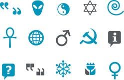 символы иконы установленные иллюстрация штока
