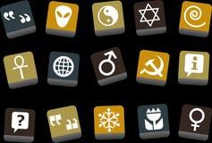 символы иконы установленные иллюстрация вектора