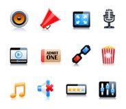 символы кино установленные Стоковое Изображение