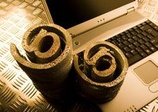 символы компьтер-книжки интернета Стоковое Фото