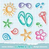 символы лета Стоковое Изображение RF