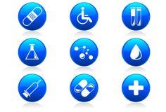 символы лоснистых икон стационара медицинские Стоковые Фото