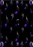 символы нот Стоковые Фото