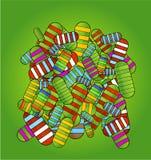 символы пилек сотрудника военно-медицинской службы зеленого цвета цвета предпосылки Стоковая Фотография