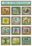 Символы племен Израиля стоковая фотография rf