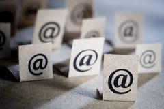 символы почты e Стоковое Изображение