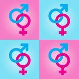 символы предпосылки женские мыжские бесплатная иллюстрация
