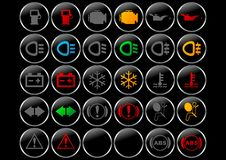 символы приборной панели Стоковые Фотографии RF