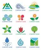 символы природы логосов ландшафта Стоковая Фотография