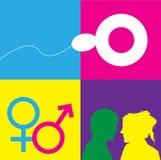 символы секса образования Стоковое Фото