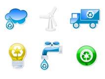 символы собрания recyclable иллюстрация штока