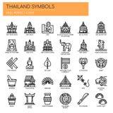 Символы Таиланда, значки пиксела совершенные бесплатная иллюстрация