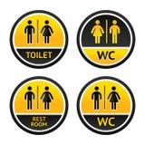 Символы туалета Стоковая Фотография