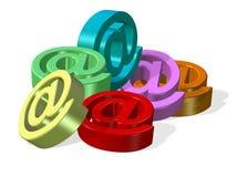 символы электронной почты Стоковое Изображение RF