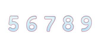 Символы bector номеров свечи для именниных пирогов иллюстрация вектора