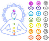 символы chakras Стоковые Изображения