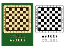 символы chessmen chessboards Стоковое Изображение RF