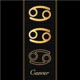 символы horoscope рака Стоковые Изображения RF