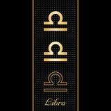 символы libra horoscope Стоковое Изображение