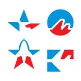 символы ot самолета установленные Стоковые Фото