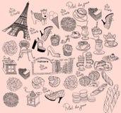 символы paris Стоковые Фото