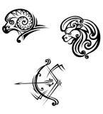 символы sagittarius leo aries Стоковое Изображение